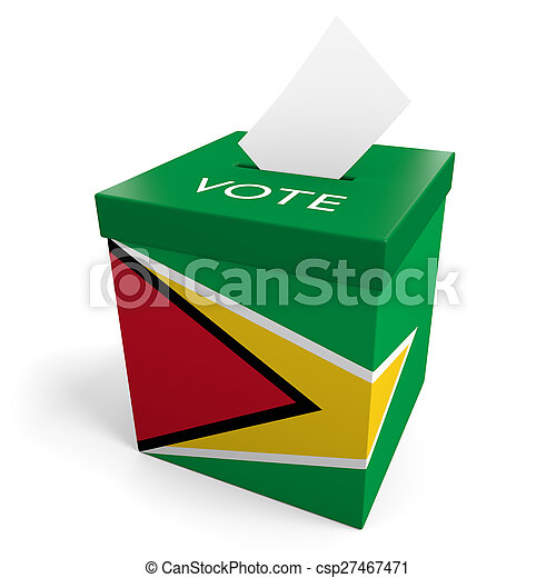 La urna electoral de Guyana - csp27467471
