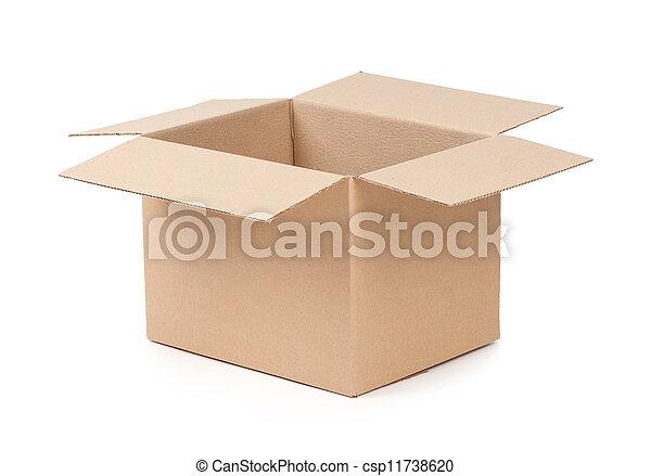 Caja de paquetes abierta - csp11738620