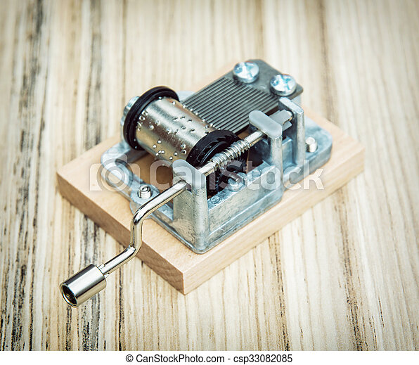 caja, poco, viejo, de madera, estilo, plano de fondo, música, retro - csp33082085