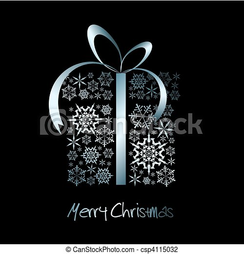 La caja de regalos de Navidad - csp4115032