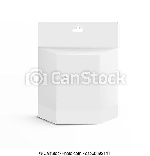 Realístico 3D impresora blanca caja de cartuchos de tinta con ranura - csp68892141