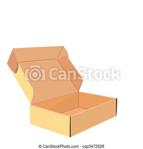 Una ilustración realista de la caja - csp3472528