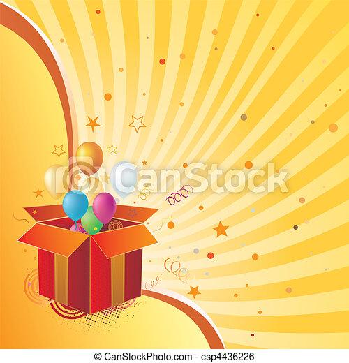 La caja de regalos y la celebración - csp4436226
