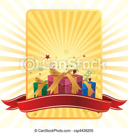 La caja de regalos y la celebración - csp4436205