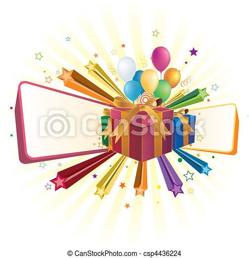 La caja de regalos y la celebración - csp4436224