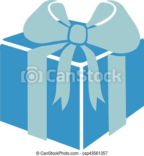 Una caja de regalos con cinta - csp43561357