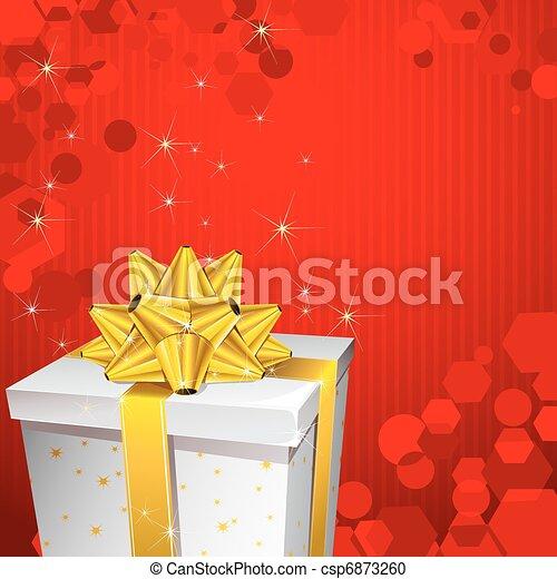 Una caja de regalos - csp6873260
