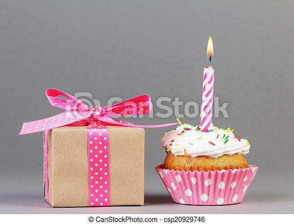 caja, regalo, cupcake - csp20929746