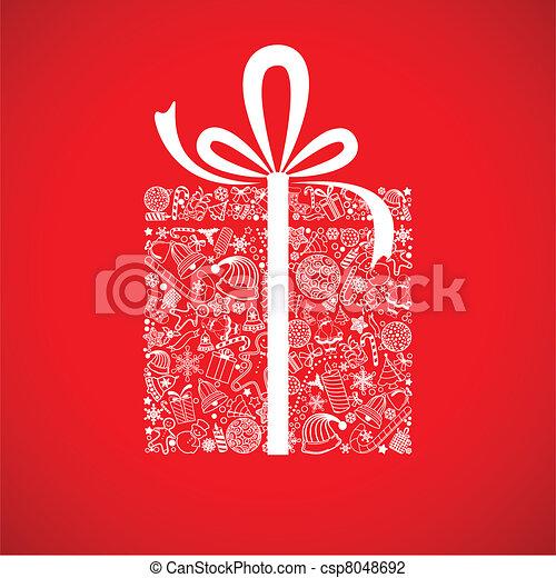 Caja de regalos de Navidad - csp8048692
