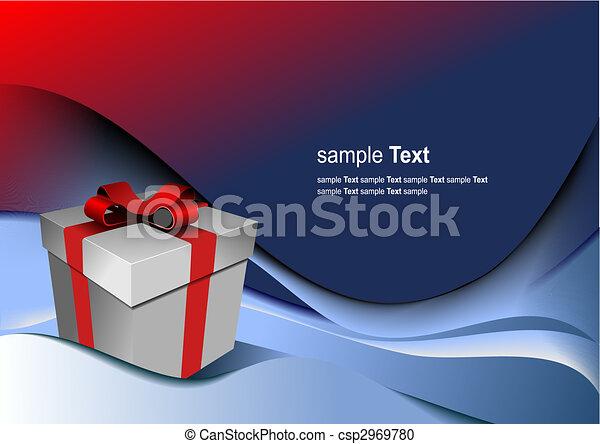 Una caja de regalos para cualquier fiesta. Ilustración del vector - csp2969780