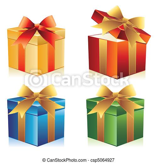 Una caja de regalos - csp5064927