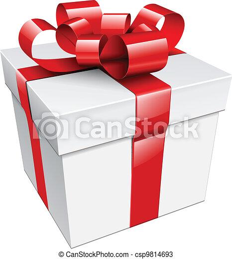 Una caja de regalos - csp9814693