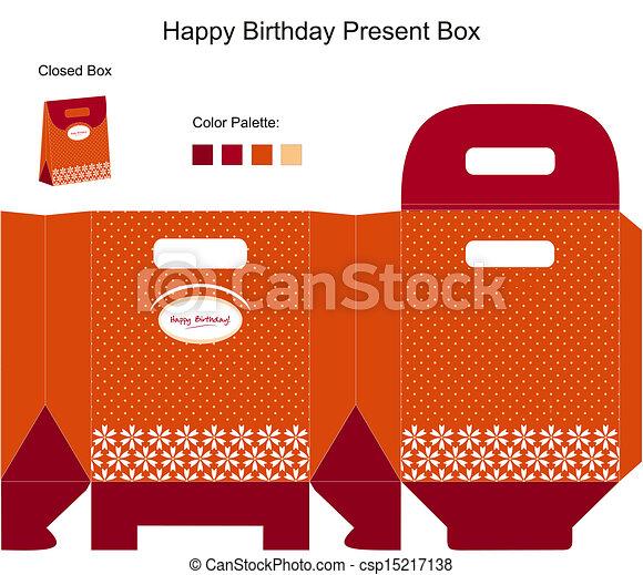 Feliz regalo de cumpleaños - csp15217138