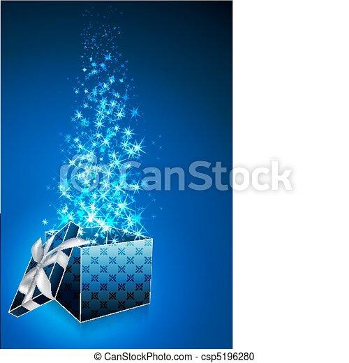 Tarjeta de regalo abstracta con caja abierta - csp5196280