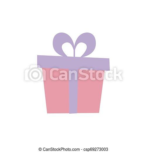 Una caja de regalos con cinta. - csp69273003