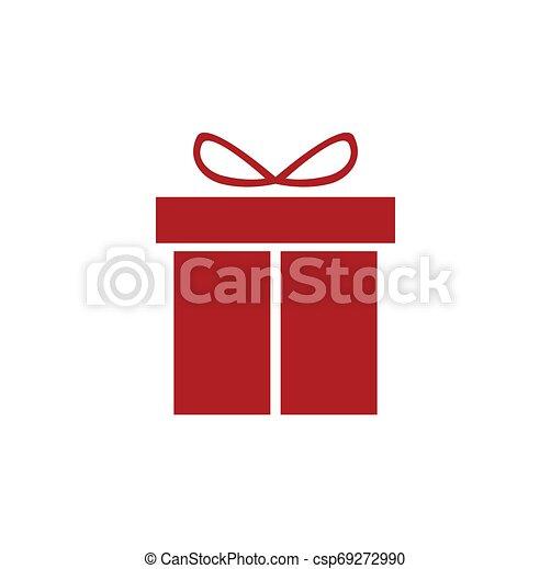Una caja de regalos con cinta. - csp69272990