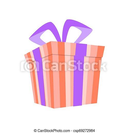 Una caja de regalos con cinta. - csp69272984