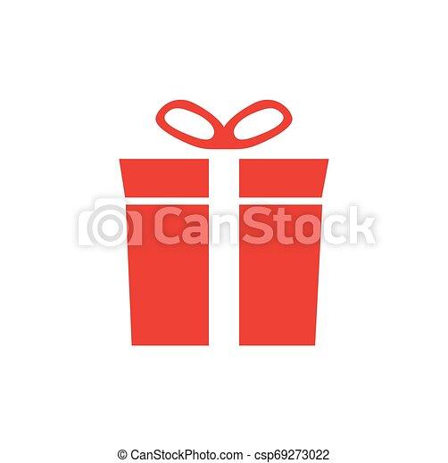 Una caja de regalos con cinta. - csp69273022