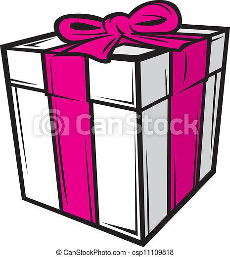 Caja Rosa Cinta Blanca Regalo