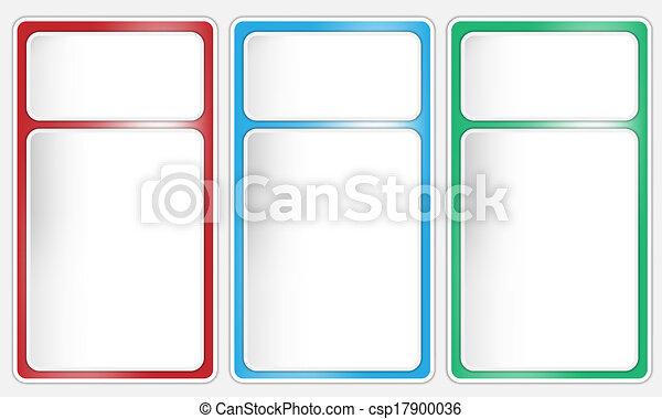 Tres cajas de texto - csp17900036