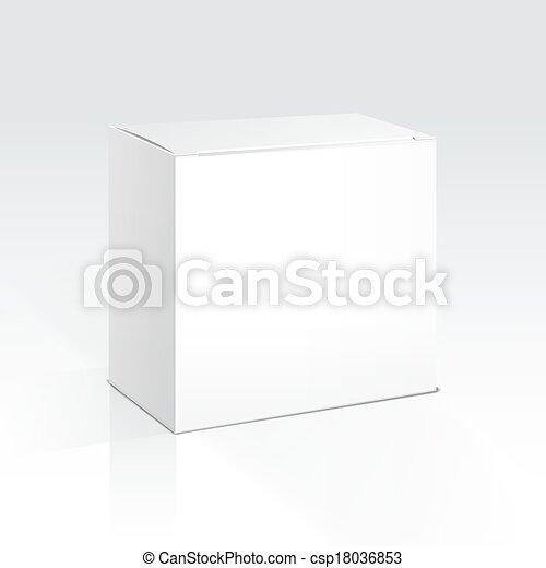 Vector caja en blanco - csp18036853