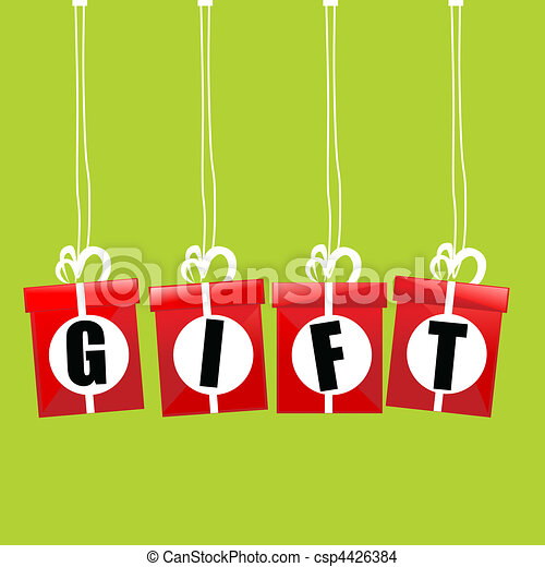 Caja de regalo Vector - csp4426384