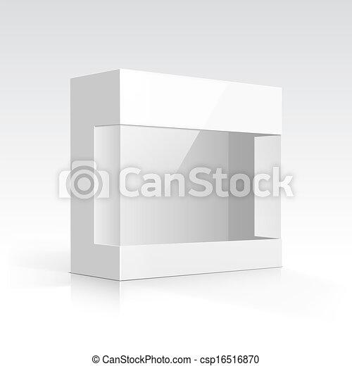 Una caja con ventana transparente - csp16516870