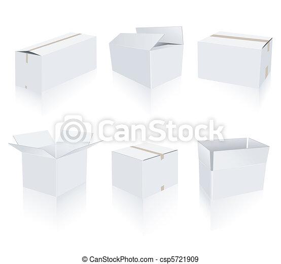 Cajas blancas - csp5721909