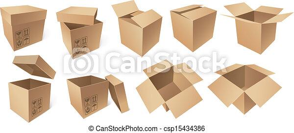 Cajas de cartón - csp15434386