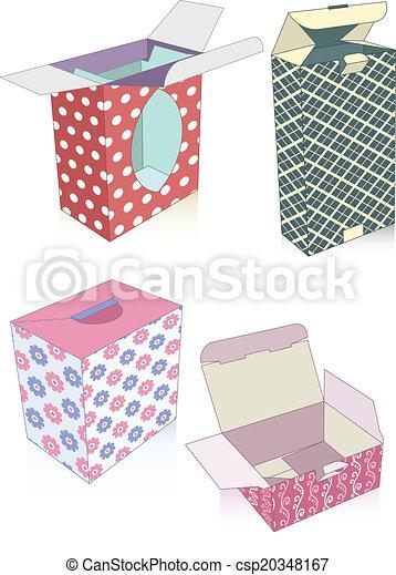 Un juego de cajas de regalos - csp20348167