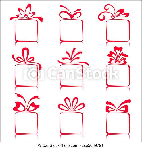 Cajas de regalos - csp5689791