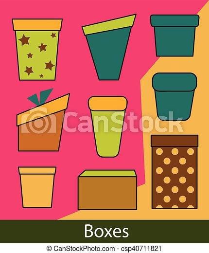 Un juego de cajas de regalo - csp40711821