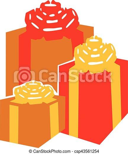 Un juego de cajas de regalos - csp43561254