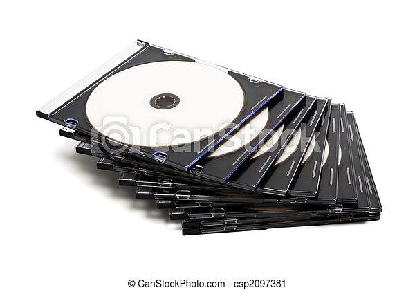 Disk cd en cajas - csp2097381