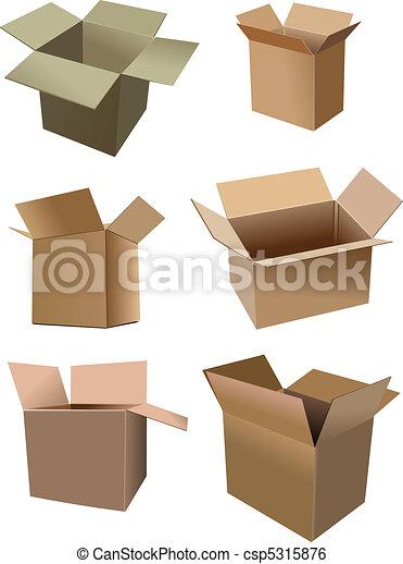 Una serie de cajas de cartón aisladas - csp5315876