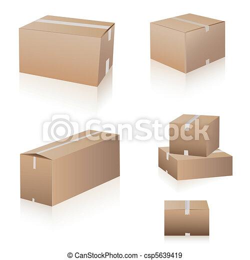 La colección de cajas de camuflaje - csp5639419