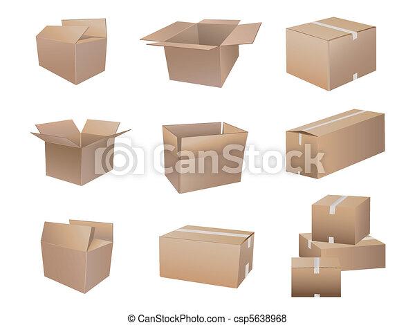 La colección de cajas de camuflaje - csp5638968