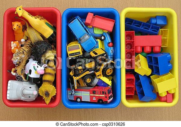 cajas, juguete - csp0310626