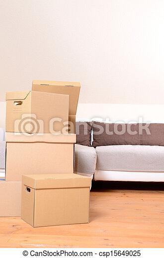 Cajas de mudanza - csp15649025