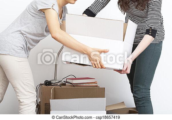 Cajas de mudanza - csp18657419