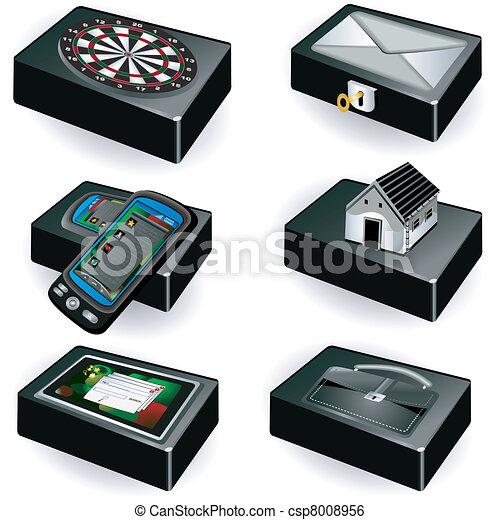Colección de cajas negras - csp8008956