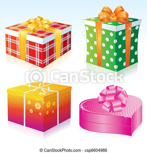 Cajas de regalos - csp6604986
