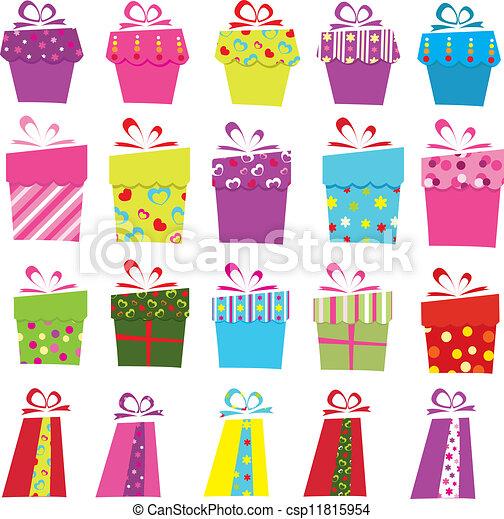 Cajas de regalos - csp11815954