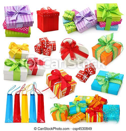 Colección de cajas de regalos - csp4530849