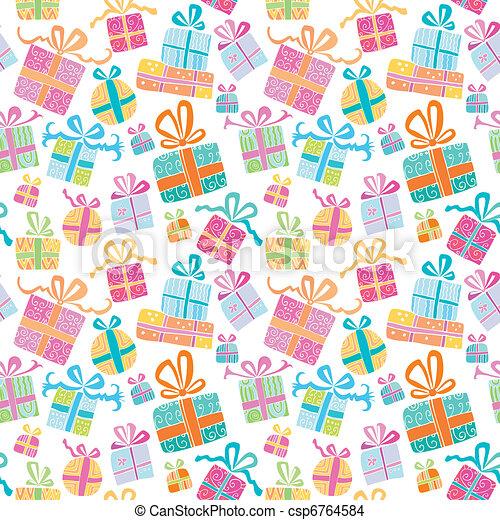 Cajas de regalos de vectores coloridos. - csp6764584