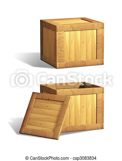 Cajas de madera - csp3083834