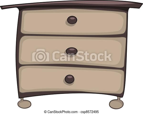 Cajones, pecho, muebles, caricatura, hogar. Cajones,... vector de ...