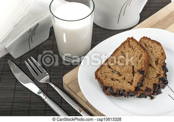 cake and milk - csp10813328