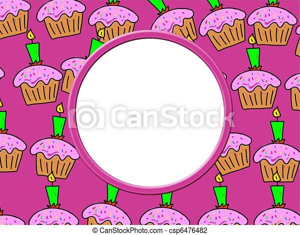 Cake Border - csp6476482
