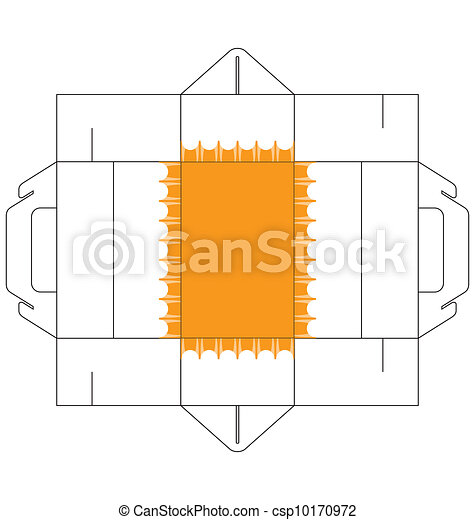 Cake box rectangular a template of a rectangular cake box a template of a rectangular cake box with simple decoration at the bottom of the box pronofoot35fo Choice Image